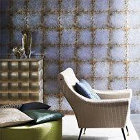Zoffany Lustre Tile Silver Tapet