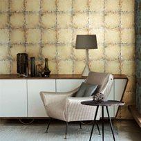 Zoffany Lustre Tile Gold Tapet