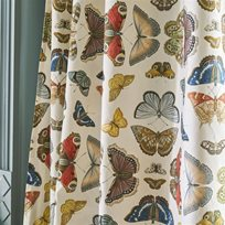 John Derian Mirrored Butterflies Parchment Tyg