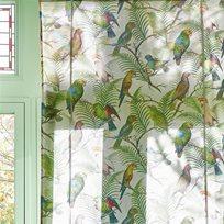 John Derian Parrot And Palm Azure Tyg