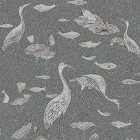 Au fil des Couleurs Enchanted River Gilver & Charcoal Tapet