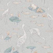 Au fil des Couleurs Enchanted River Pastel Tapet