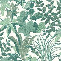 Au fil des Couleurs Magic Garden Forest Green Tapet