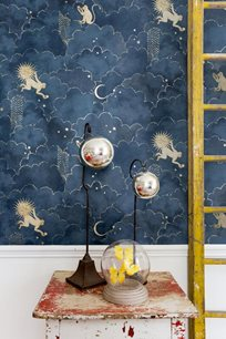 Au fil des Couleurs Stars & Monkeys Midnight Blue