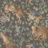 Au fil des Couleurs Zippy´s Hide and Seek Ginger & Black Tapet