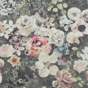 Jane Churchill Marble Rose Charcoal