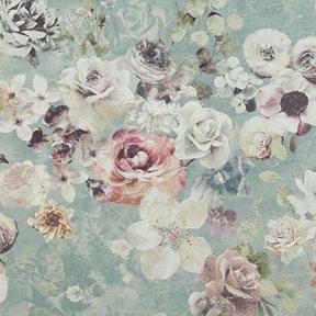 Jane Churchill Marble Rose Aqua Tapet