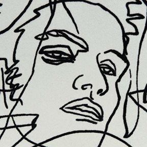 Jean Paul Gaultier Croquis Ecru Noir