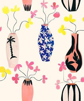Coordonné Vase of Paradise, Elfenben