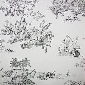 Charles Burger Robinson Crusoe Tapet