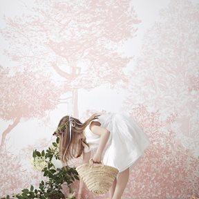 Sian Zeng Hua Trees Mural Pink