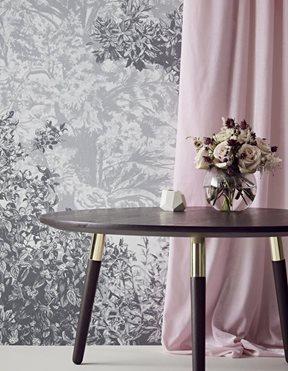 Sian Zeng Hua Trees Mural Grey