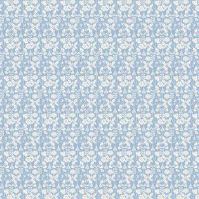 Lim & Handtryck Åt solsidan - Klöver & bin ljusblå Tapet