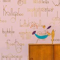 Coordonné Beautiful words, Flamingo Tapet