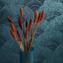 Casadeco Walter Irise, Turquoise Tapet