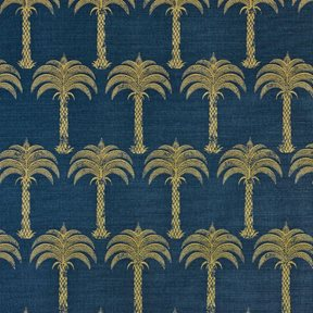 Barneby Gates Marrakech Palm Midnight Blue Tyg