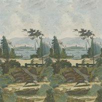 John Derian Pastoral Scene 2 Sky Tapet
