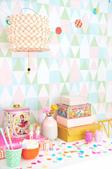 Majvillan Alice candy Tapet