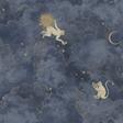 Au fil des Couleurs Stars & Monkeys Midnight Blue