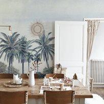 Au fil des Couleurs Palm Grove, Blue Tapet