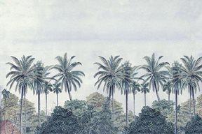 Au fil des Couleurs Palm Grove, Blue