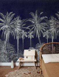Au fil des Couleurs Palm Grove, Midnight Tapet