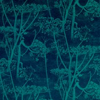 Cole & Son Cow Parsley, Petrol & Ink