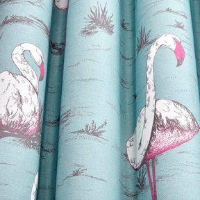 Cole & Son Flamingos, White & Fuchsia on Seafoam