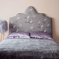 Cole & Son Flamingos, White & Fuchsia on Taupe