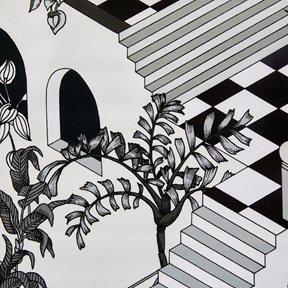 Cole & Son Miami, Black & White