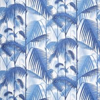 Cole & Son Palm Jungle, Hyacinth on White Tyg