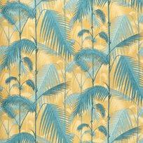 Cole & Son Palm Jungle, Ochre & Petrol Tyg