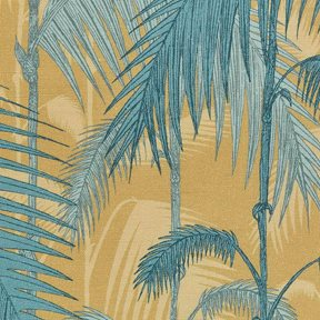 Cole & Son Palm Jungle, Ochre & Petrol
