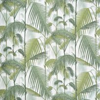 Cole & Son Palm Jungle, Olive Green on White Tyg