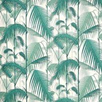 Cole & Son Palm Jungle, Teal & Viridian on Chalk Tyg