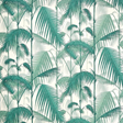 Cole & Son Palm Jungle, Teal & Viridian on Chalk