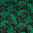 Cole & Son Palm Jungle, Viridian & Petrol on Black