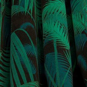 Cole & Son Palm Jungle, Viridian & Petrol on Black