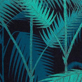 Cole & Son Palm Jungle, Viridian & Petrol on Charcoal