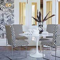Cole & Son Tile, Black & White Tyg