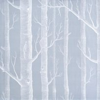 Cole & Son Woods, White on Soft Grey Tyg