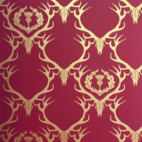 Barneby Gates Deer Damask