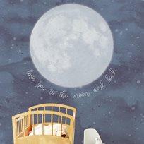Intrade Väggbild Over the moon Tapet