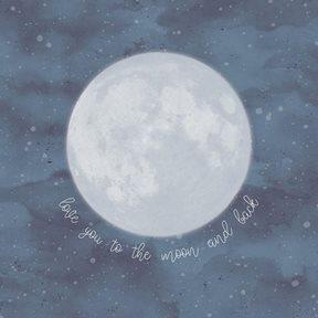Intrade Väggbild Over the moon