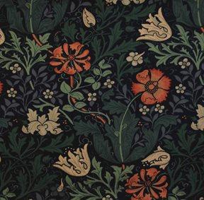 William Morris & co Compton Indigo / Green Tyg