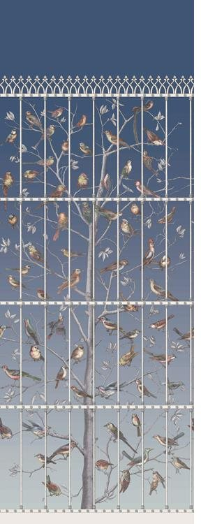Fornasetti Uccelli Tapet