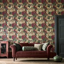 William Morris & co Acanthus Madder/Thyme Tapet