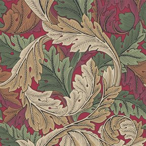 William Morris & co Acanthus Madder/Thyme