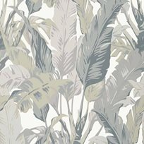 Thibaut Travelers Palm Grey