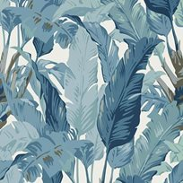 Thibaut Travelers Palm Spa blue
